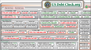 The debt clock has a time machine on it at usdebtclock.org. Use it. This is today. July 6th, 2016.
