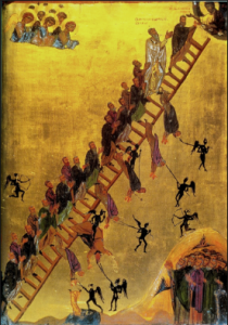 John Climacus - the Ladder of Divine Ascent. The role of the demon is to distract and tempt with sin so that divine love is unknown.