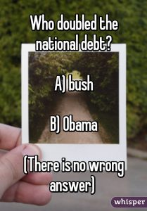 The record deficit that has now more than doubled the total Bush deficit is not a Republican or Democrat thing. It is a system thing.