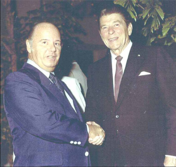 Dad supported Ronald Reagan in 1976 and was instrumental in raising funds from Palm Beachers in 1980.