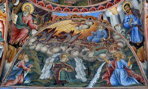 Elijah depicted at the Rila Orthodox Monastery of Bulgaria