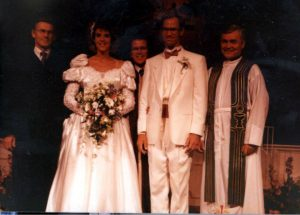 Our ecumenical wedding was led by three clergymen from Pentecostal to Baptist to Catholic.
